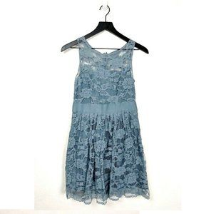 BB Dakota Powder Blue Lace A-Line Dress